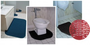 Mats, Urinal Screens and Rim Hangers - Commercial Restroom Supplies