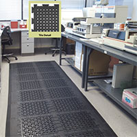 Comfort Flow Linkable Tile Commercial Mats