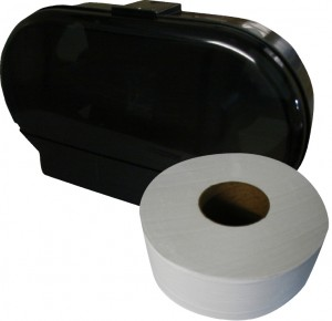 Jumbo Roll Bathroom Tissue and Dispenser - Commercial Restroom Supplies