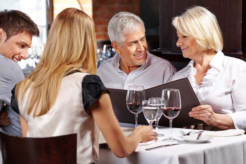Couple Looking through well designed menu